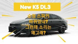 92 신형 K5 DL3 순정카오디오 스피커가 바뀌었네?…
