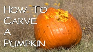 How To Carve A Pumpkin - By The Guy With The Pink Gun