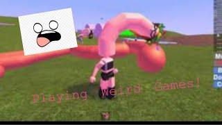 Jugar Juegos Raros (Roblox) (Mira en la descripción! xD)