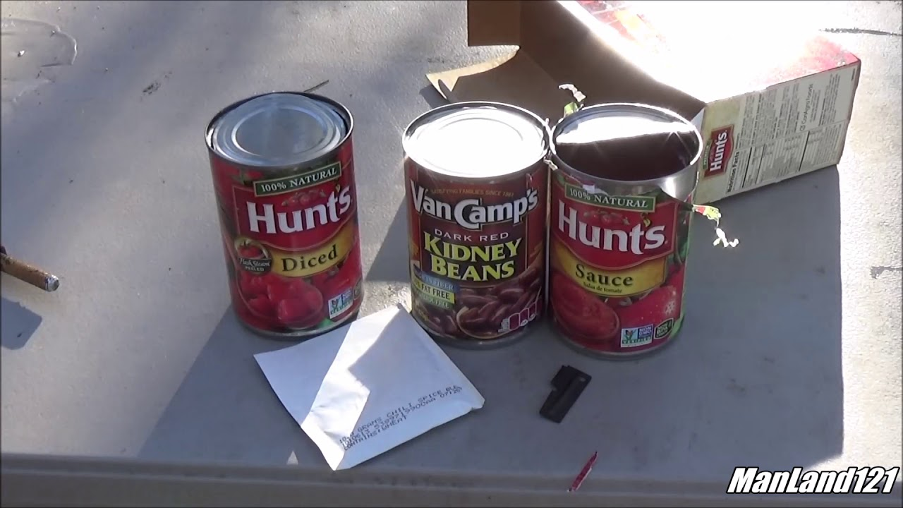 Hunt S Chili Kit Sweet Heat Chili Camp Fire Cooking Youtube