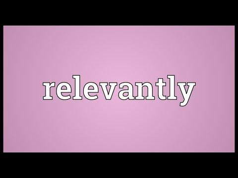 Header of relevantly