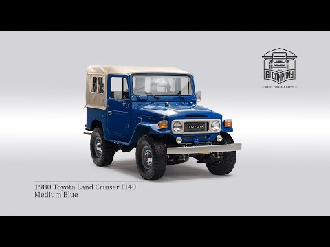 1980 Toyota Land Cruiser FJ40 Medium Blue