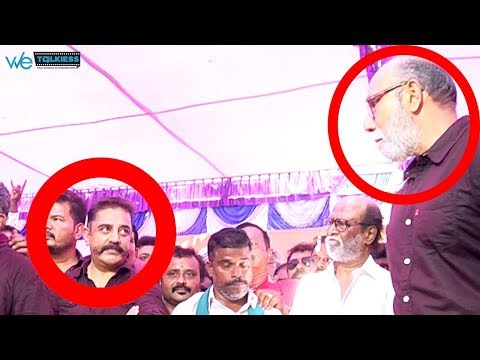 Caught : Kamal Haasan reaction for Sathyaraj speech | Cauvery Protest