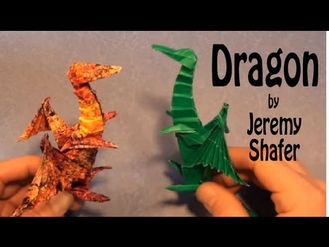 fold an origami dragon by jeremy shafer youtube