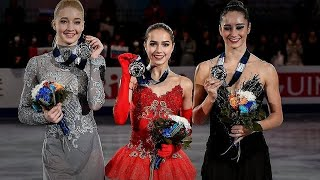 Victory Ceremony Ladies Grand Prix Final 2017 18