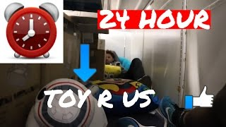24 HOUR OVERNIGHT FORT in TOYS R US!