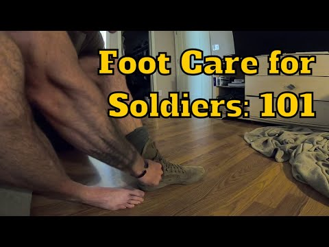 Foot Care for Soldiers   Taking the Boots Off After a 50-mile Ruck