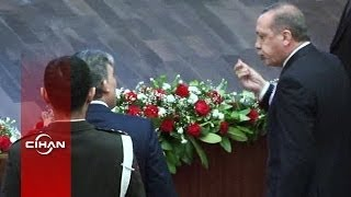 Feyzioğlu'na kızan Başbakan Erdoğan salonu terketti