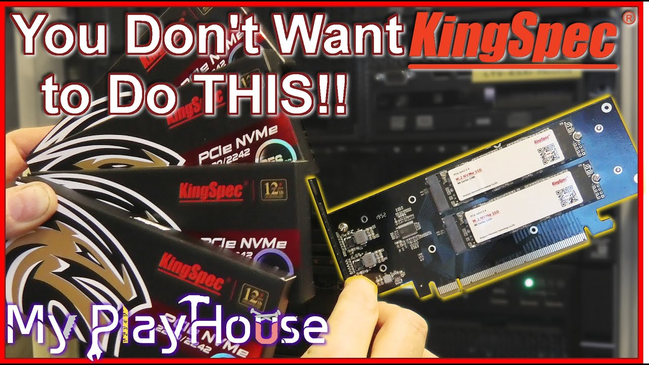Four KingSpec NVMe SSD's in just one PCIe X16 port ? - 987