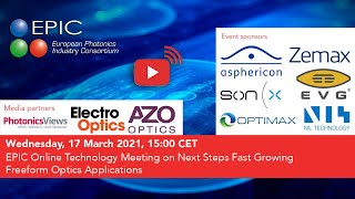 EPIC Online Technology Meeting on Next Steps Fast Growing Freeform Optics Applications