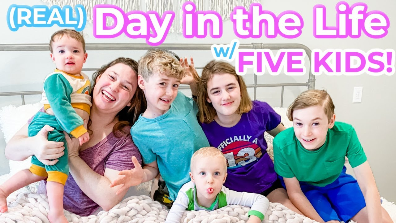 Day in the Life w/ FIVE KIDS!