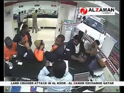 Land Cruiser Attack in Al Khor Al Zaman Exchange in Qatar.mp4