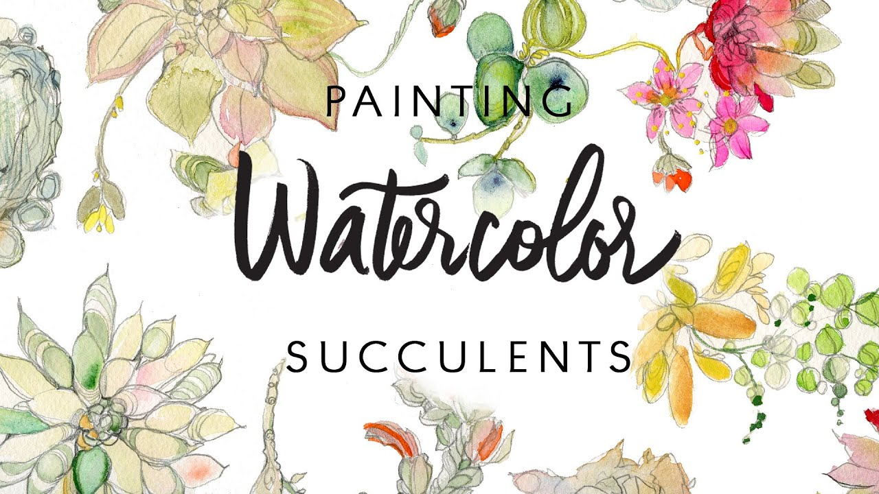 Fall Flowers Wallpaper Hd Painting Watercolor Succulents By Kristy Rice Youtube