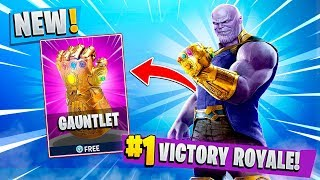 How to Get Thanos Infinity Gauntlet First in Fortnite Battle Royale!