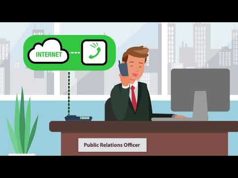 VOIP  technology Motion graphic