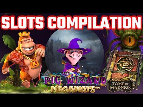 SLOTS BONUS COMPILATION - Slots Include - The Pig Wizard Megaways, Return Of Kong Megaways + More