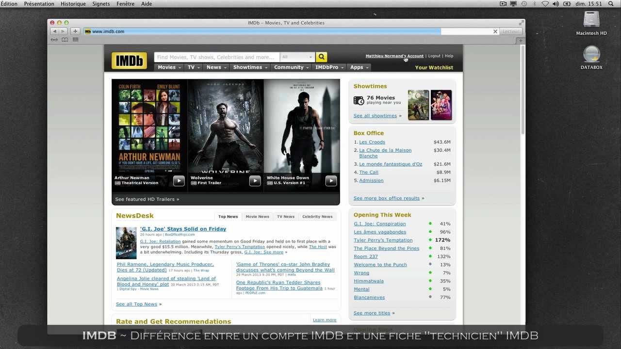 mettre a jour son cv imdb