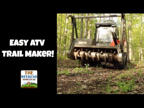 Best Way to Make ATV Trails - Crazy Awesome!
