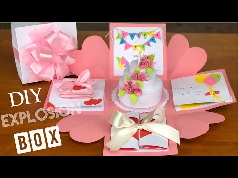 DIY explosion box for birthday | Explosion box tutorial for beginners | Easy tutorial