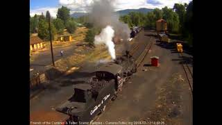 7/132018 Eight car train 216 departs Chama, NM
