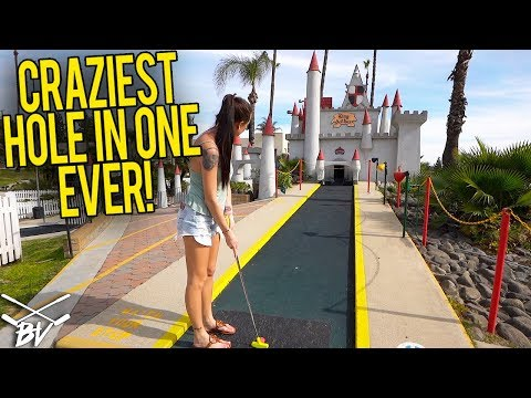 WORLD'S LUCKIEST MINI GOLF HOLE IN ONE! - ONE IN A MILLION CRAZY HOLE IN ONE!