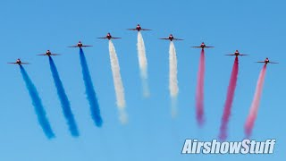 RAF Red Arrows North American Tour! - St Louis Airshow 2019