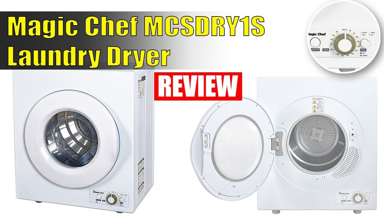 Magic Chef Mcsdry1s Laundry Dryer 2 6 Cu Ft White Review 2018 Youtube
