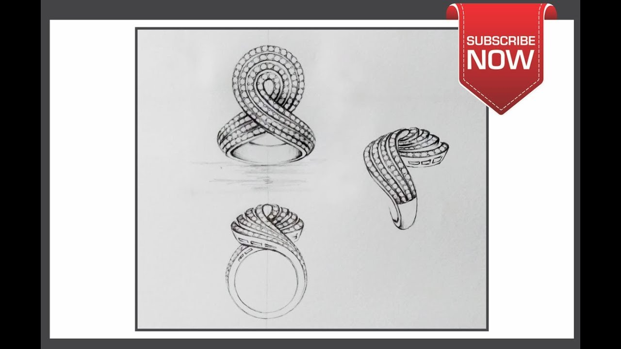 How To Draw Ring Prospective View Step By Step On Paper By Art