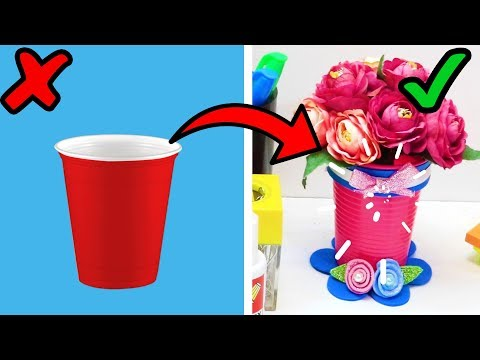 5 WONDERFUL CRAFTS WITH DISPOSABLE CUPS   HOW TO REUSE DISPOSABLE CUPS