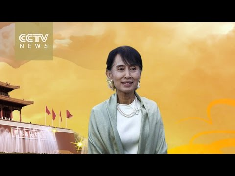 Aung San Suu Kyi makes first visit to China as Myanmar's State Counselor