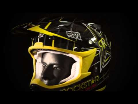 2013 Answer Comet Motocross Helmets - Rockstar V