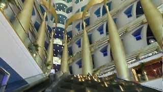 The Burj Al Arab hotel lobby Most Luxurious Hotel in the World 7* stars DUBAI