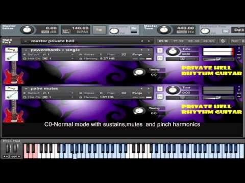 free guitar sample library- Private Hell Rhythm Guitar for kontakt ...