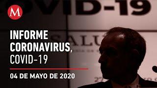 Informe diario por coronavirus en México, 04 de mayo de 2020