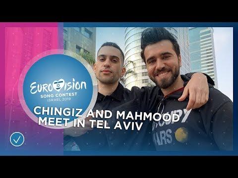 Chingiz 🇦🇿 and Mahmood 🇮🇹 meet up during Tel Aviv postcard shoot - Eurovision 2019