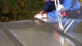 Монтаж фальцевой кровли из оцинковки от Кровмонтаж.(, 2014-10-07T19:35:44.000Z)