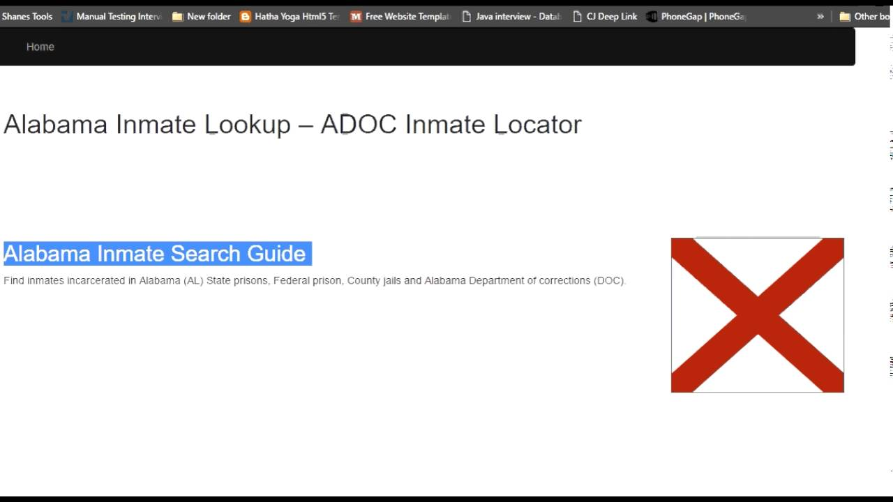 Alabama Department Of Corrections Inmate Search