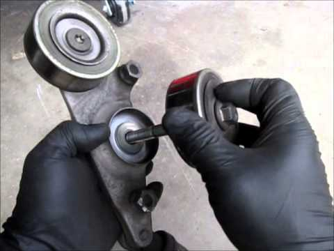 2005 honda odyssey belt diagram early bronco wiring serpentine tensioner replacement - youtube