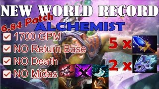 New WORLD RECORD Alchemist Gameplay | 1741 GPM | FULL GAME [Dota 2 Pro] @60fps