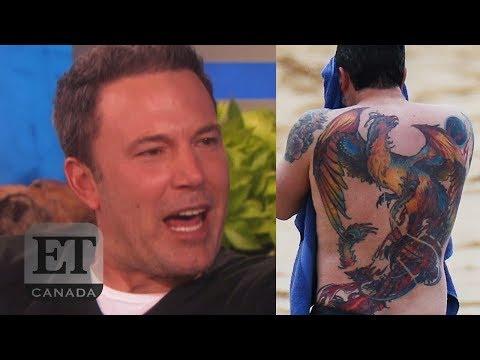 0ddf6df5f92b6 Ben Affleck On His Back Tattoo - YouTube