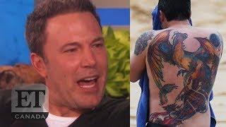 Ben Affleck On His Back Tattoo