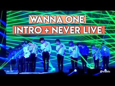 [WANNA BE LOVED IN MANILA] WANNA ONE'S INTRO + NEVER LIVE PERFORMANCE
