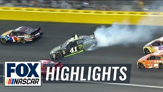 Kurt Busch spins and hits the wall early | 2018 All-STAR RACE | FOX NASCAR