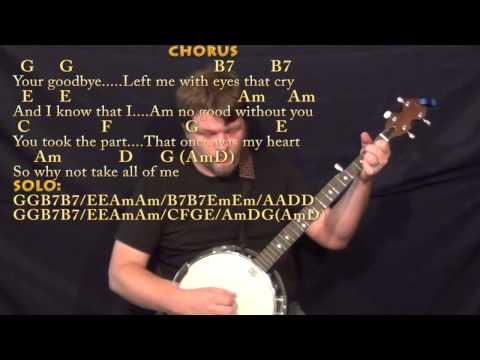 Banjo banjo chords mumford and sons : All of Me (Willie Nelson) Banjo Cover Lesson in G with Chords ...