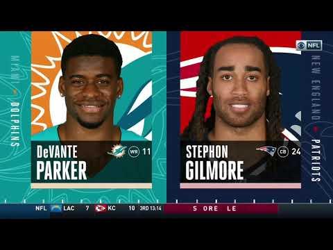 DeVante Parker vs Stephon Gilmore (2019 wk 17)   WR vs CB Matchup