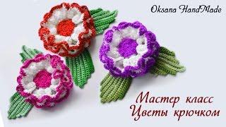 Цветы Маргаритки крючком. Мастер класс. Crochet flowers Daisies(Вяжем цветы крючком. Подробный мастер класс со схемами. Приятного просмотра! Подписывайтесь на мой канал,..., 2016-08-15T11:50:50.000Z)