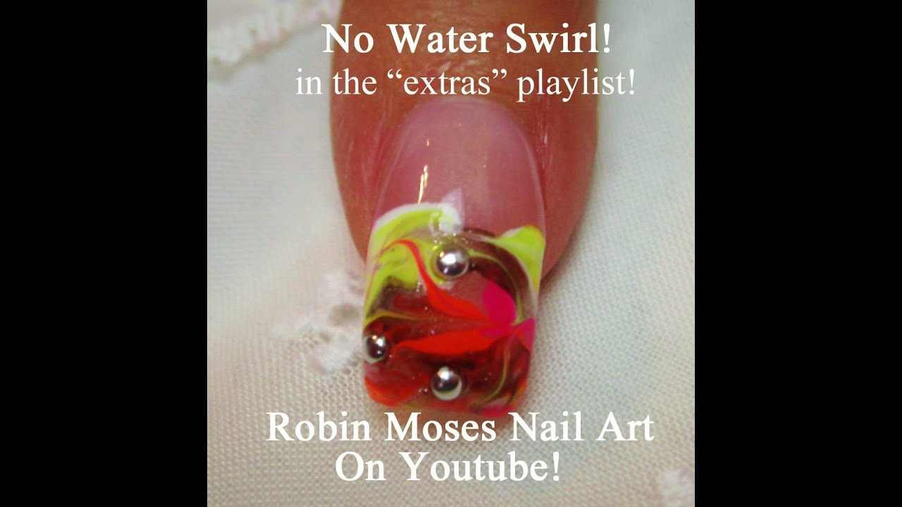 No Water Needed How To Marble Nails Detailed Nail Art Tutorial