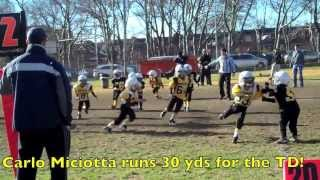 KINGS COUNTY STEELERS YOUTH FOOTBALL HIGHLIGHTS (19-6 Victory)
