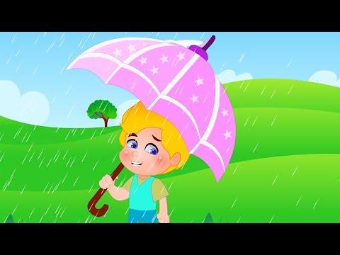 Rain Rain go Away | Nursery Rhyme with Lyrics | Kids Tv Nursery Rhymes For Children
