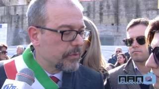 Caivano - Il Sindaco Monopoli inaugura Piazza Cesare Battisti